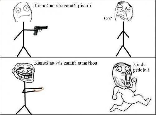 Pistol vs. gumička
