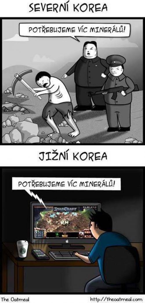 Severní vs. Jižní Korea