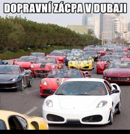 Dopravní zácpa v Dubai  :D :) :D :)