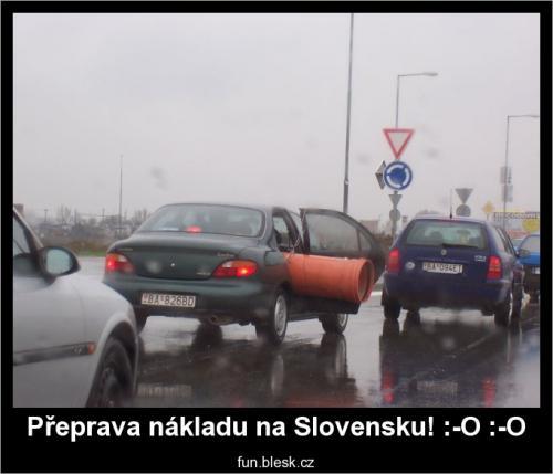 Jak Slováci přepravují náklad