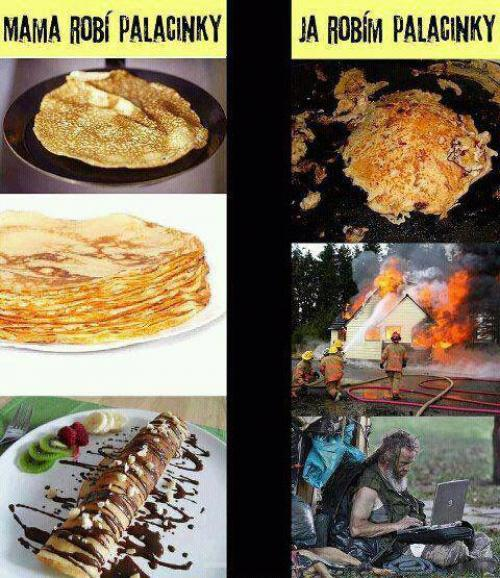 Když vaří máma a když vařím já
