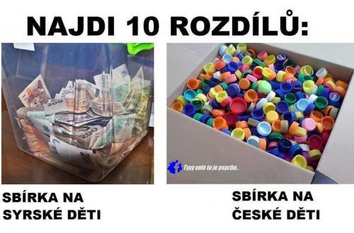 Sbírka na syrské děti vs. české děti