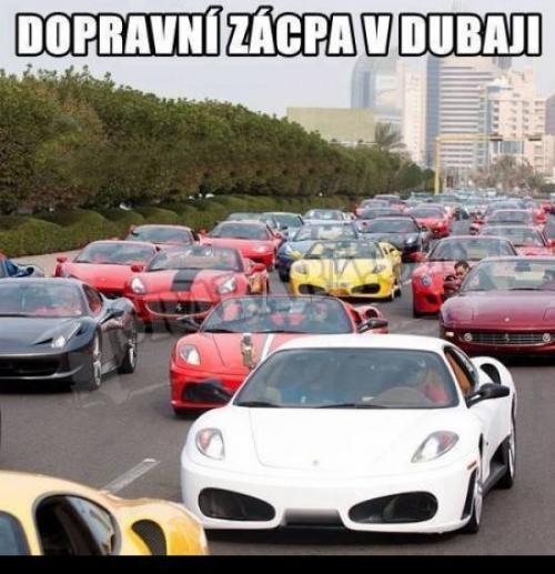 Dopravní zácpa v Dubaji