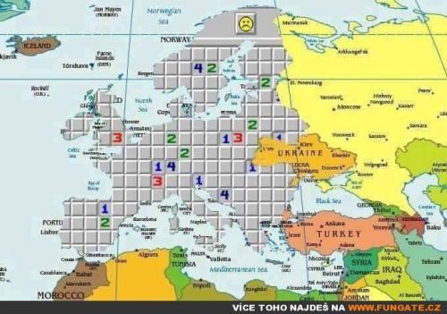 Mapa Evropy aktuálně