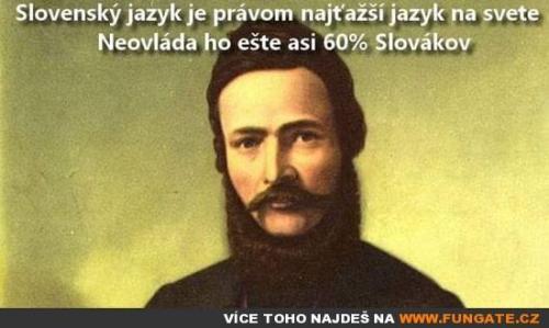 Slovenský jazyk je právem nejtěžší jazyk na světě