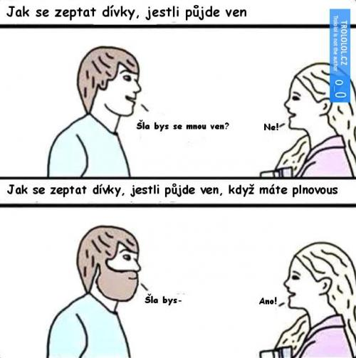 Chlap bez vousy vs. s vousy