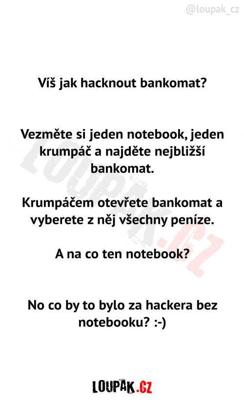 Jak hacknout bankomat