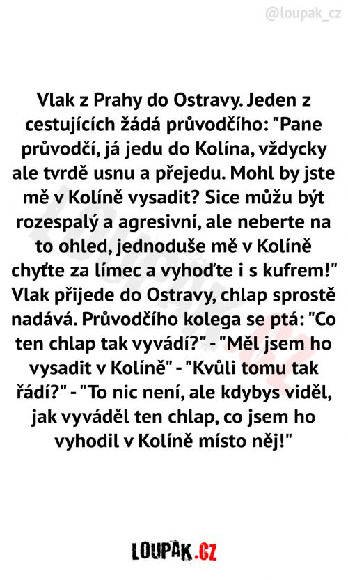 Vlak z Prahy do Ostravy