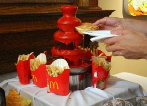 Kečupová fontána