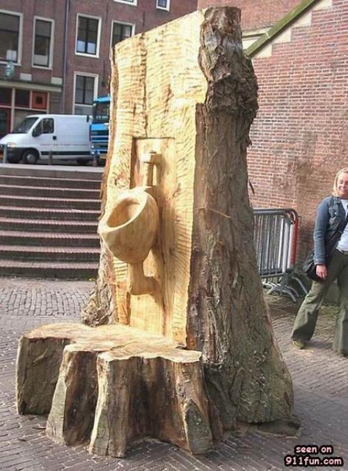 Dřevěné WC