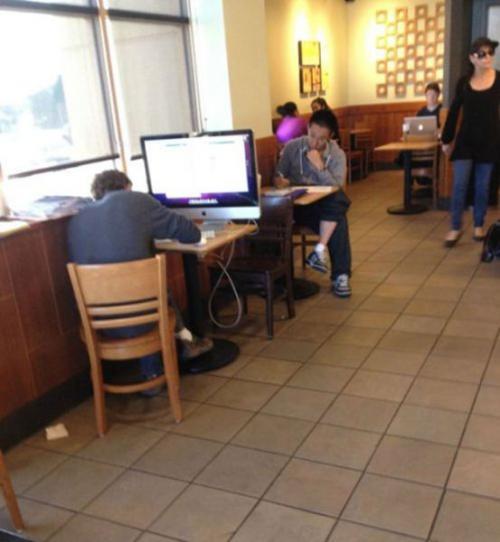 PC v kavárně