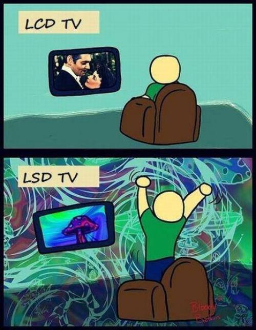 LCD vs LSD TV