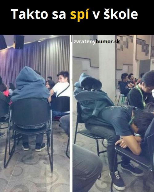 Spaní ve škole lvl asiat