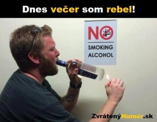 No smoking alcohol