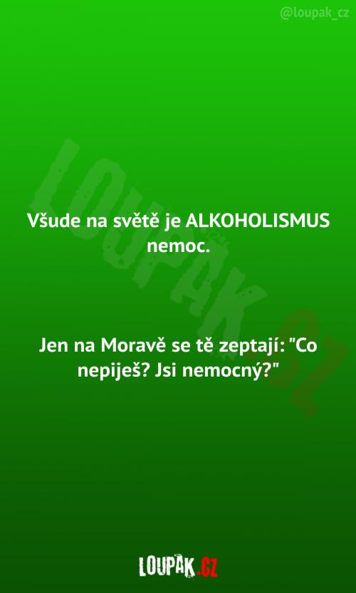 Alkoholismus je nemoc všude na světě