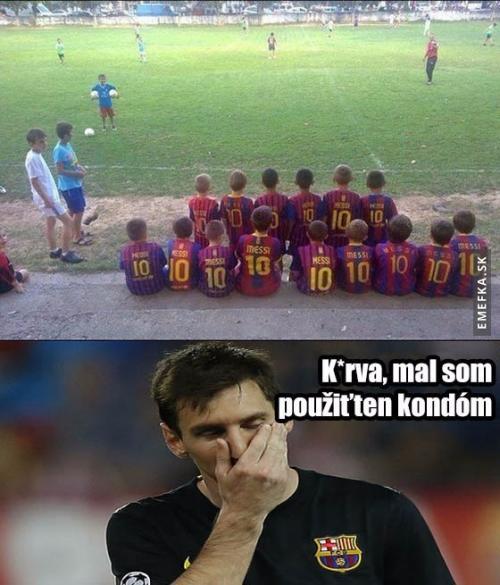 Messi je všude