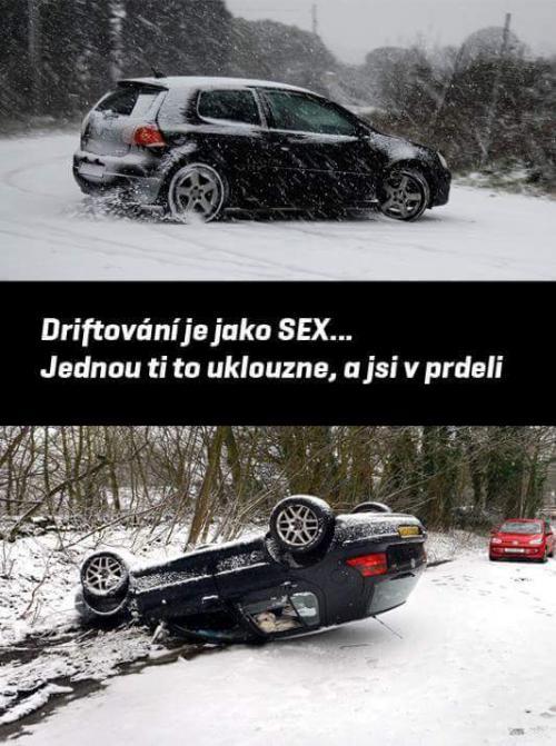 Driftování je jako sex
