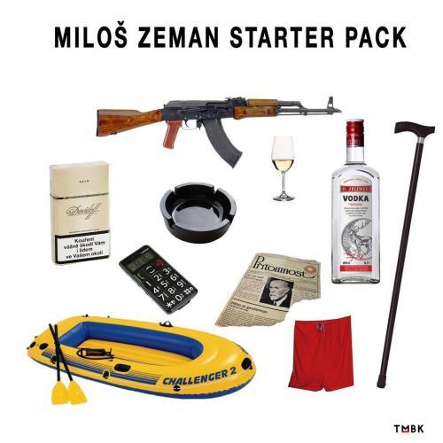 Miloš Zeman starer pack