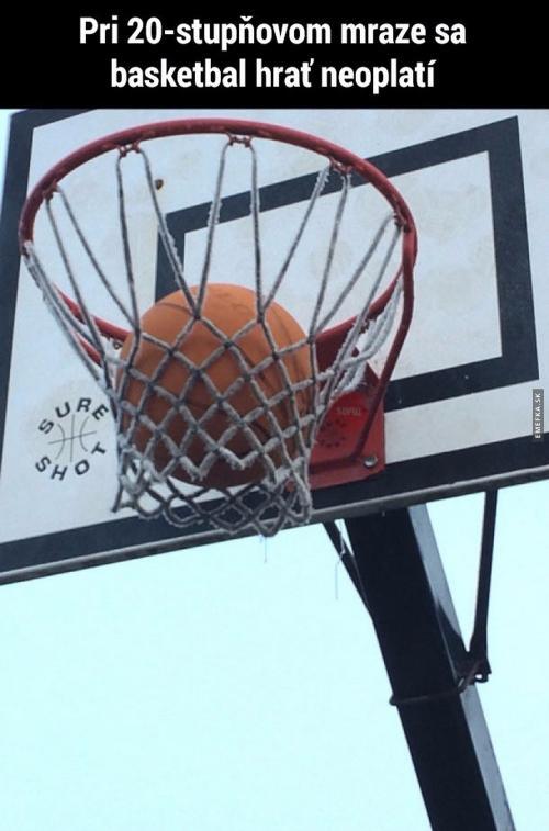 Basket v zimě