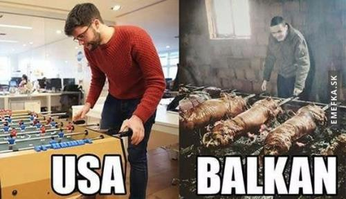 USA vs Balkán