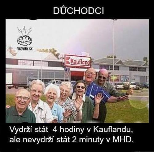 Důchodci v MHD