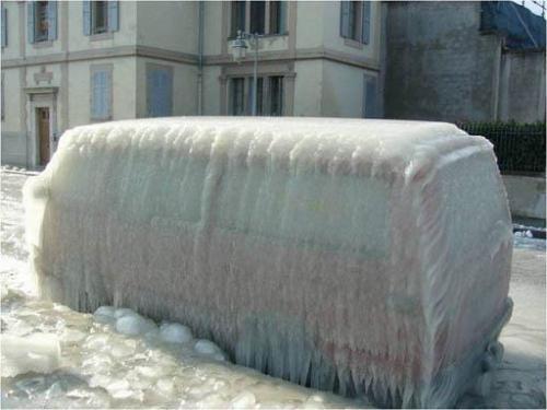 Zamrzlé auto