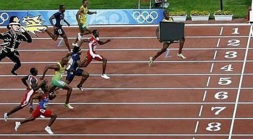 Usain Bolt na běžecké dráze