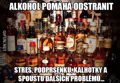 Alkohol nám pomáhá řešit všechny problémy