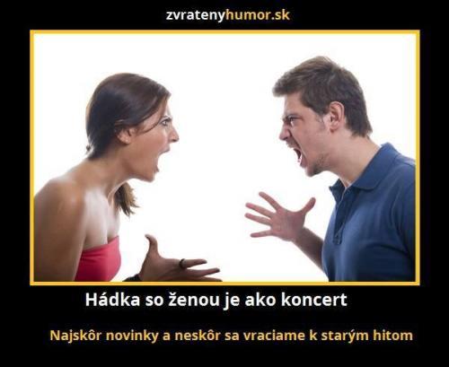 Výsledek obrázku pro hádka se ženou
