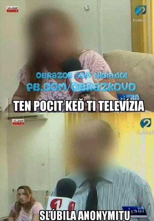 Anonymita v tv