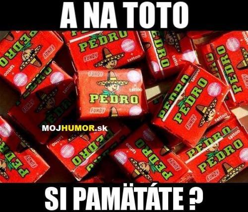 Pomatujete na Pedro