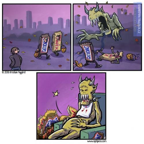 Halloweenský komiks