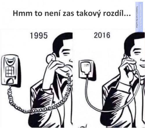 Telefonování dříve vs teď
