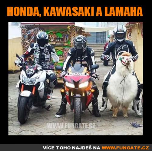 Honda, Kawasaki a Lamaha