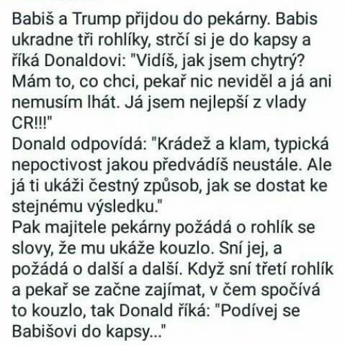 Trump a Babiš
