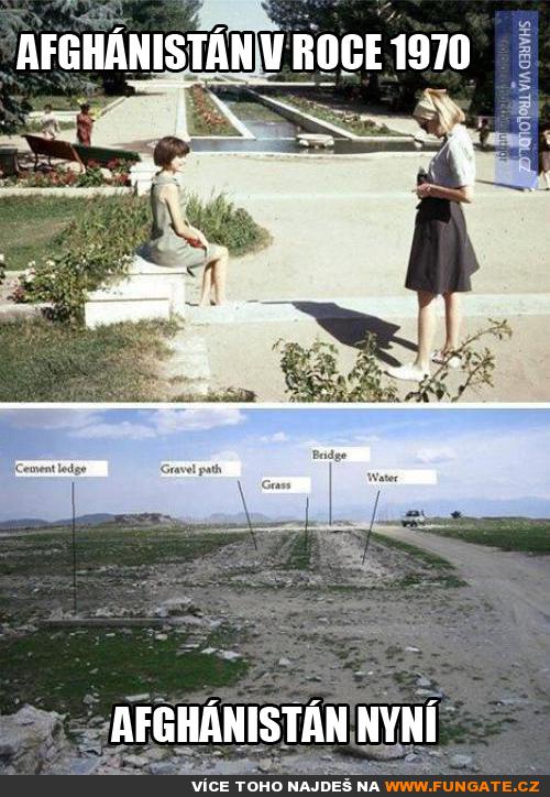 Afghánistán v roce 1970 a nyní