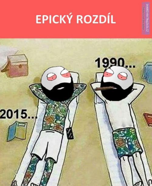 Tetování v roce 1990 vs. 2015