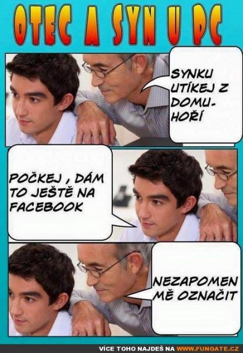 Otec a syn u PC