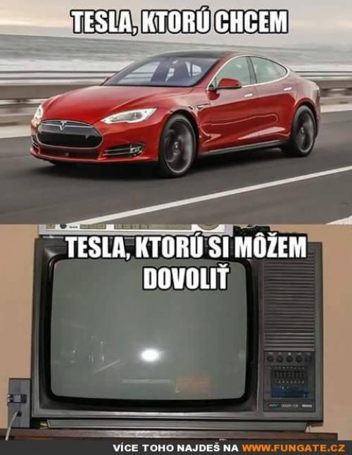 Tesla, kterou chcem