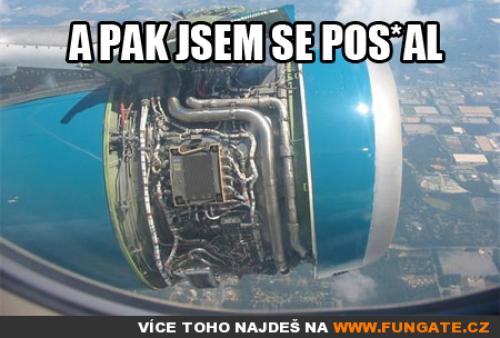 Povzbudivý pohled z letadla