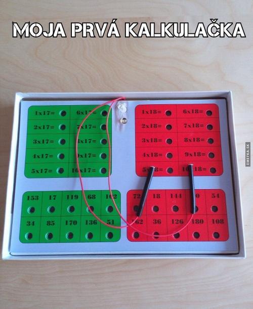 První kalkulačka