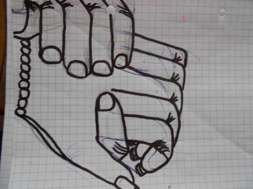 Ruce: kreslené