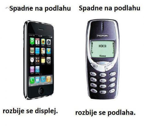 Mobil dnes vs. Mobil dříve