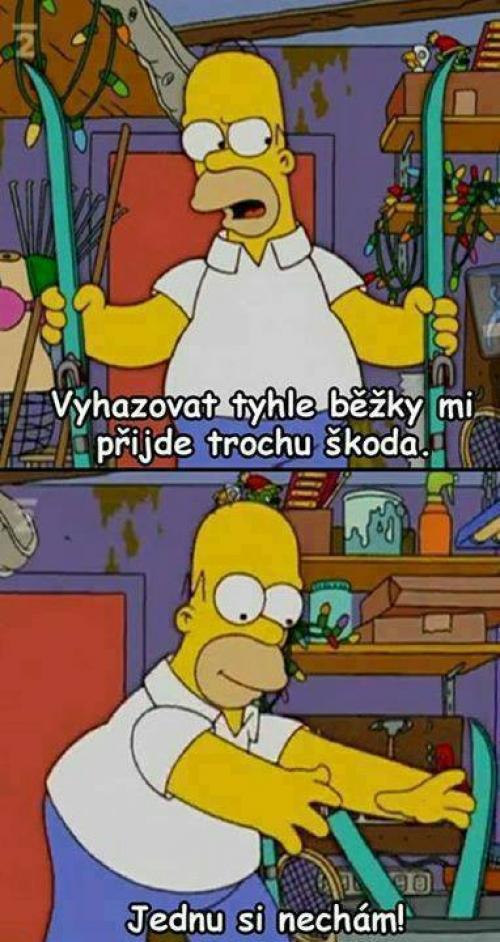 Homer Simpson - běžky