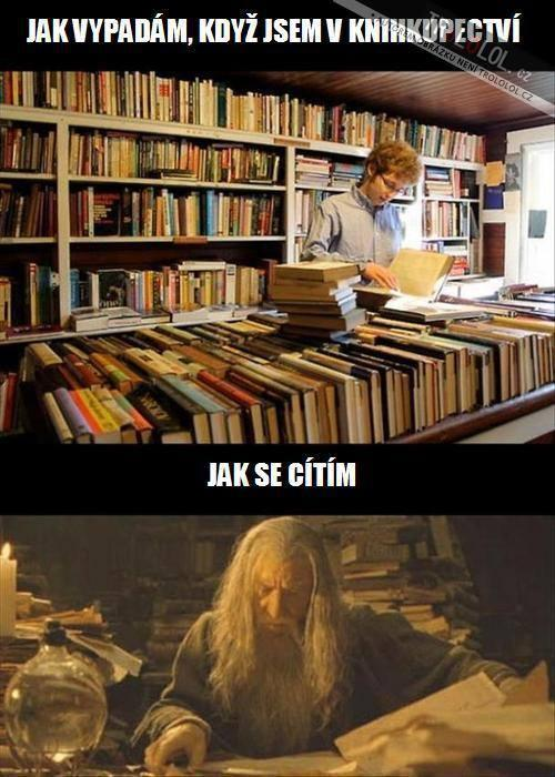 V knihkupectví