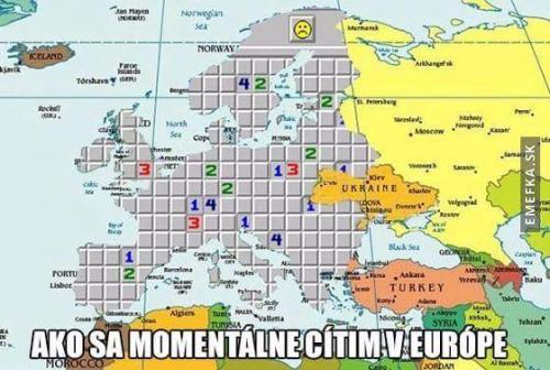 Momentálně v Evropě