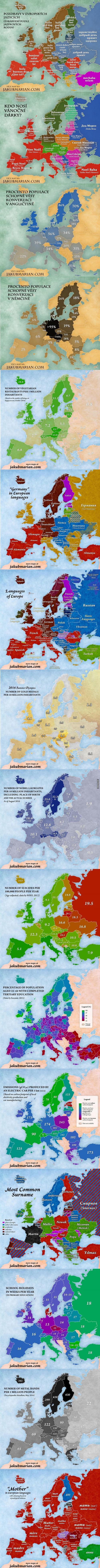 16 zajímavých map Evropy