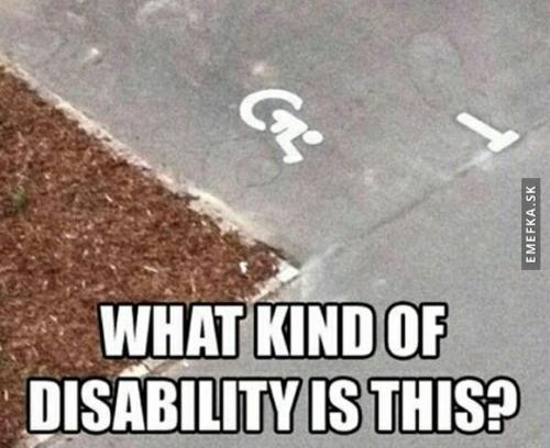 Jaký druh postižení?