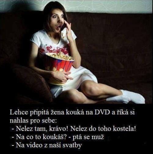 Upřímná holka a DVD
