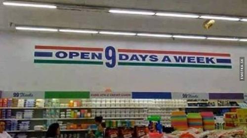 9 dnů týdně